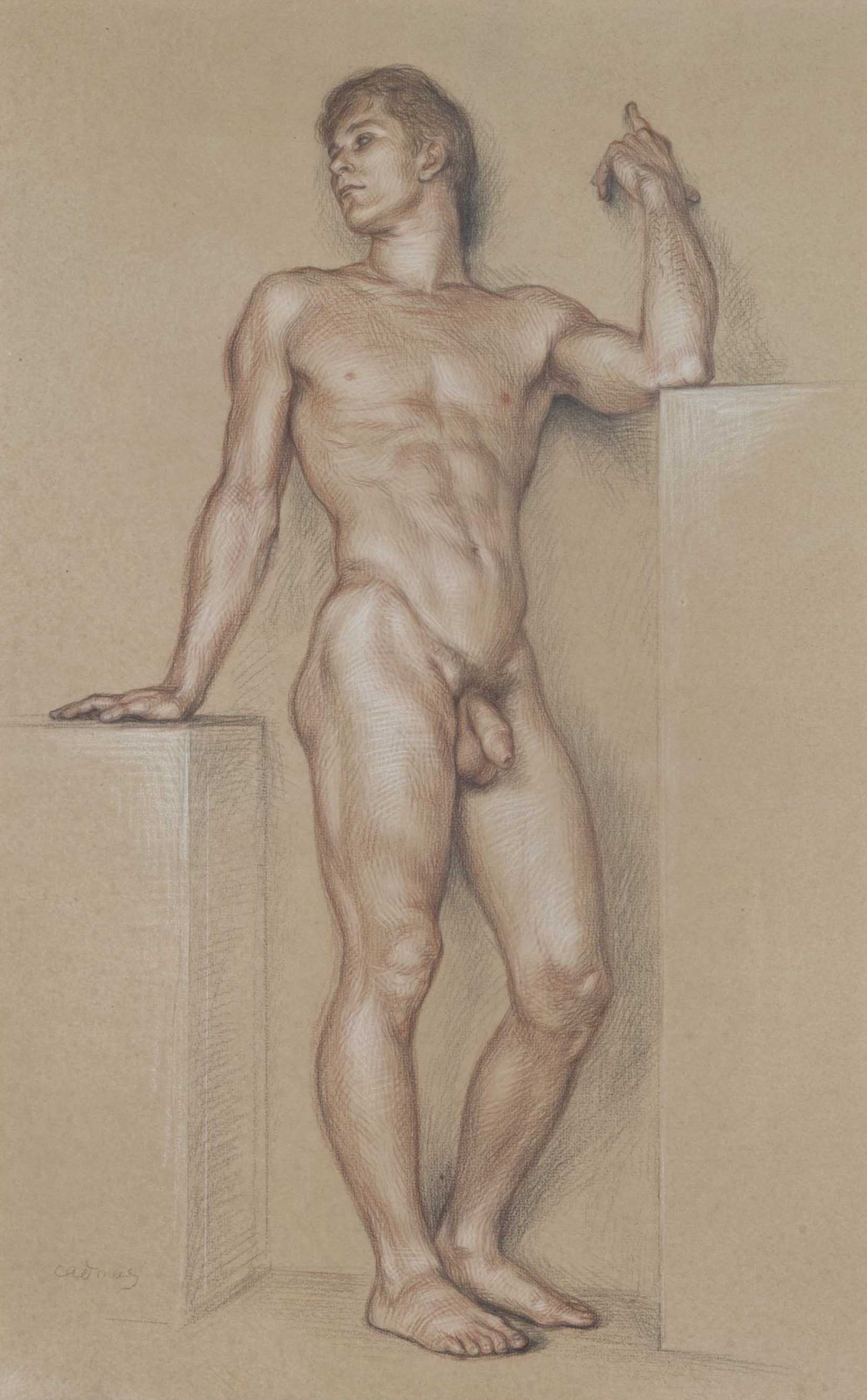 Paul Cadmus ''Standing youth''