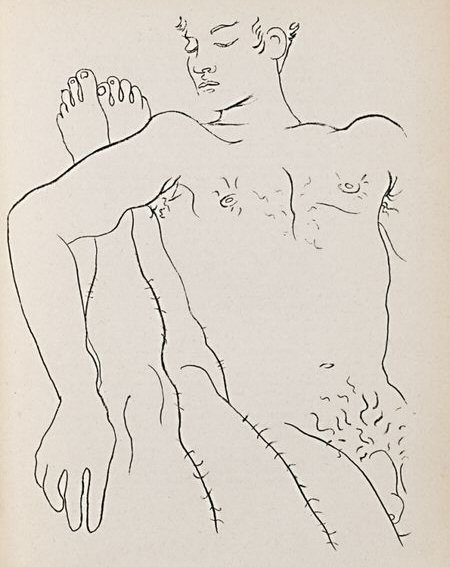 Illustration to Genet's 'Querelle de Brest'' by Jean Cocteau