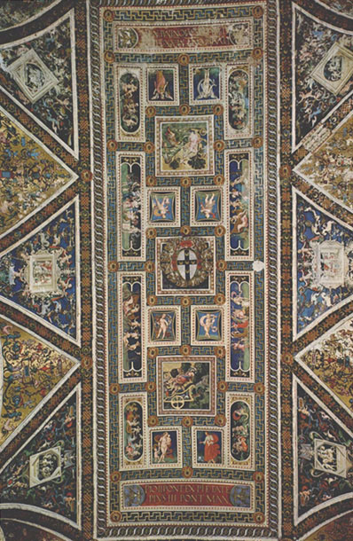Ceiling of the Piccolomini Library, Siena