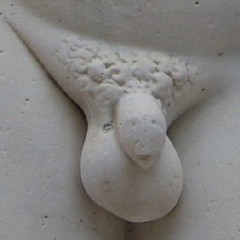 Penis of sculpture, garden of Versailles