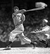 Joe Dimaggio at the bat