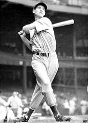 Ted Williams at the bat