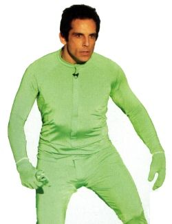 Ben Stiller in green BVDs