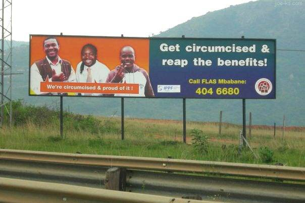 Circumcision billboard in Swaziland