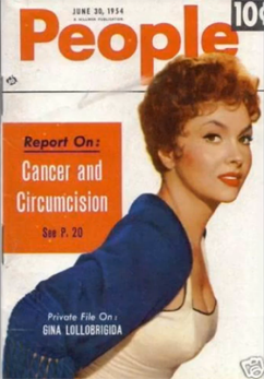 Cover of 1954 ''People'' magazine - cancer & circumcision