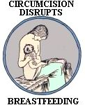 Click to download ''Circumcision Disrupts Breastfeeding'' tee-shirt design